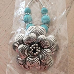 Tibet Silver and Turquoise Necklace